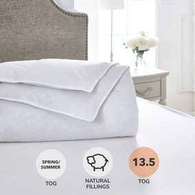 Dorma Luxurious White Goose Down 13.5 Tog Duvet