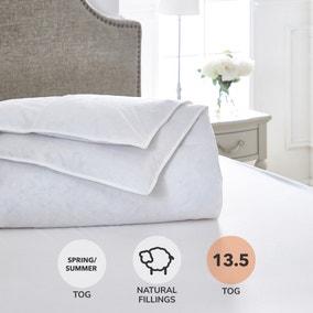 Dorma Luxurious White Goose Down 13.5 Tog Duvet