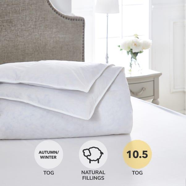 Dorma Luxurious White Goose Down 10.5 Tog Duvet  undefined