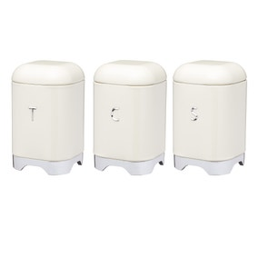 Set of 3 Lovello Cream Tea coffee and Sugar Canisters