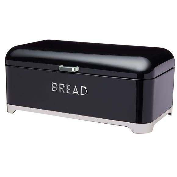 Lovello Black Bread Bin Black