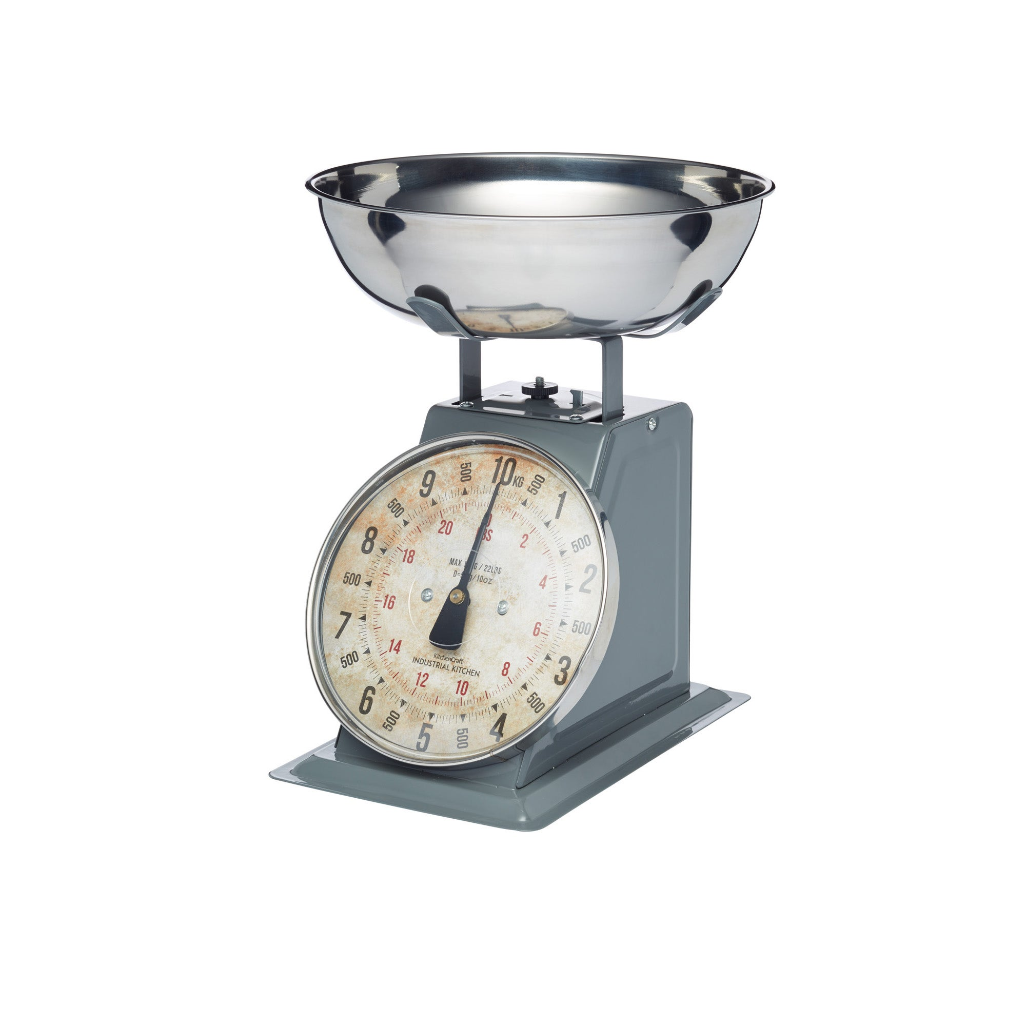 Click to view product details and reviews for Industrial Kitchen High Capacity 10kg Mechanical Kitchen Scales Silver And Grey.