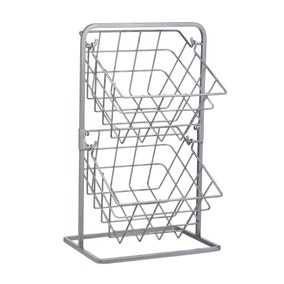 Industrial Kitchen Two Tier Wire Storage Baskets