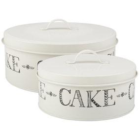 Set of 2 Stir It Up Cake Tins