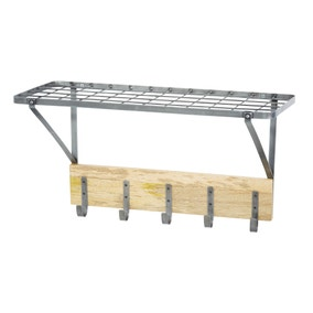 Industrial Kitchen Shelf Style Wall Mounted Pot Rack