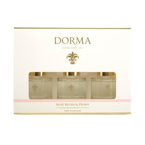 Dorma Rose Blush and Peony Set of 3 50ml Reed Diffusers