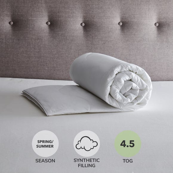 Fogarty Cool Cotton 4.5 Tog Duvet White undefined