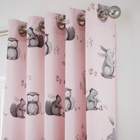 Catherine Lansfield Woodland Friends Eyelet Curtains