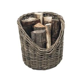 40cm Round Wicker Log Basket