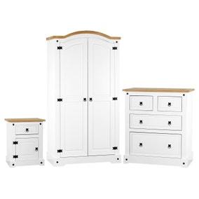 Corona White Bedroom Set