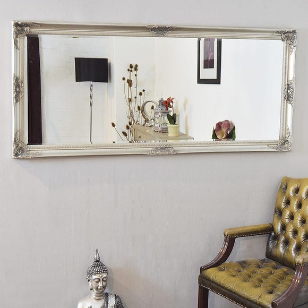 Kingston Silver Wall Mirror Silver