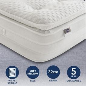 Silentnight Soft Medium 2000 Pocket Geltex Pillowtop Mattress