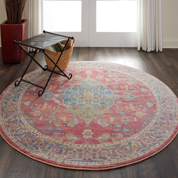 Ankara Global 1 Round Rug Multi Coloured undefined