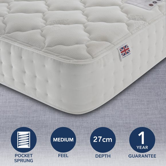 Rest Assured 800 Pocket Silk Mattress White undefined