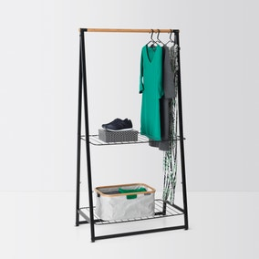Brabantia Large Black Linen Indoor Clothes Rack