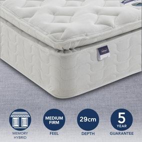 Silentnight Medium Firm Miracoil Memory Pillowtop Mattress