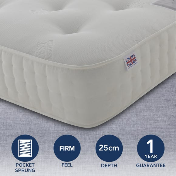 Rest Assured 1400 Pocket Orthopaedic Mattress White undefined