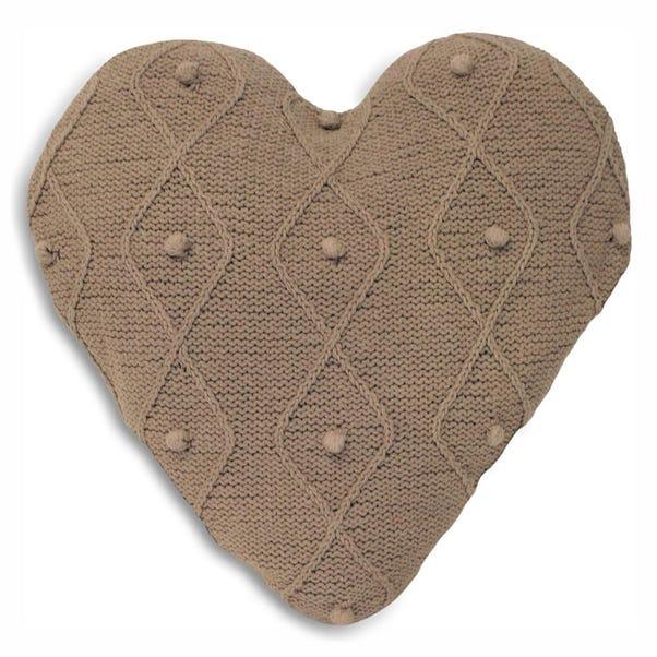 Argyll Heart Cushion Natural