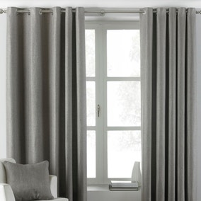 Atlantic Grey Eyelet Curtains