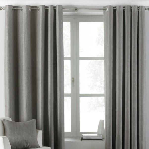 Atlantic Grey Eyelet Curtains  undefined