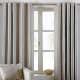 Atlantic Natural Eyelet Curtains