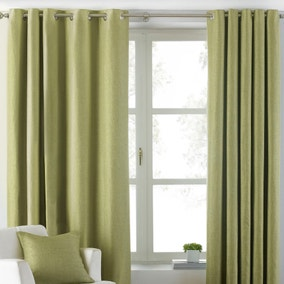 Atlantic Green Eyelet Curtains