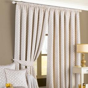 Belmont Beige Pencil Pleat Curtains