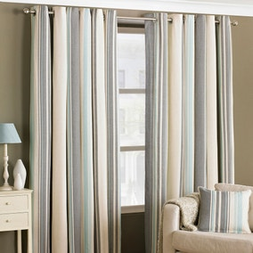 Broadway Duck Egg Eyelet Curtains