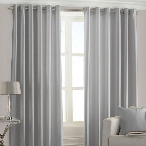 Fiji Steel Eyelet Curtains Grey undefined