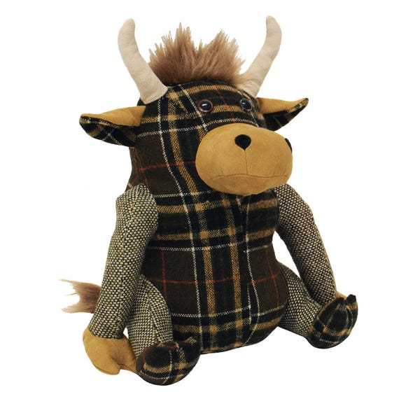 Highland Cow Doorstop Brown