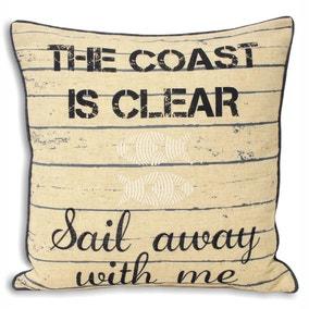 Seascape Sail Away With Me Cushion