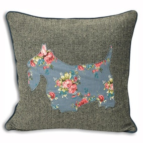 Sweet Cottage Scottie Cushion