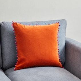 Velvet Pom Pom Cushion