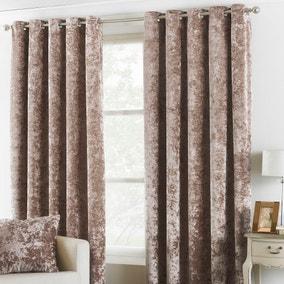 Verona Oyster Velvet Eyelet Curtain