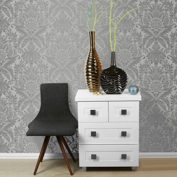 Signature French Grey Wallpaper Silver