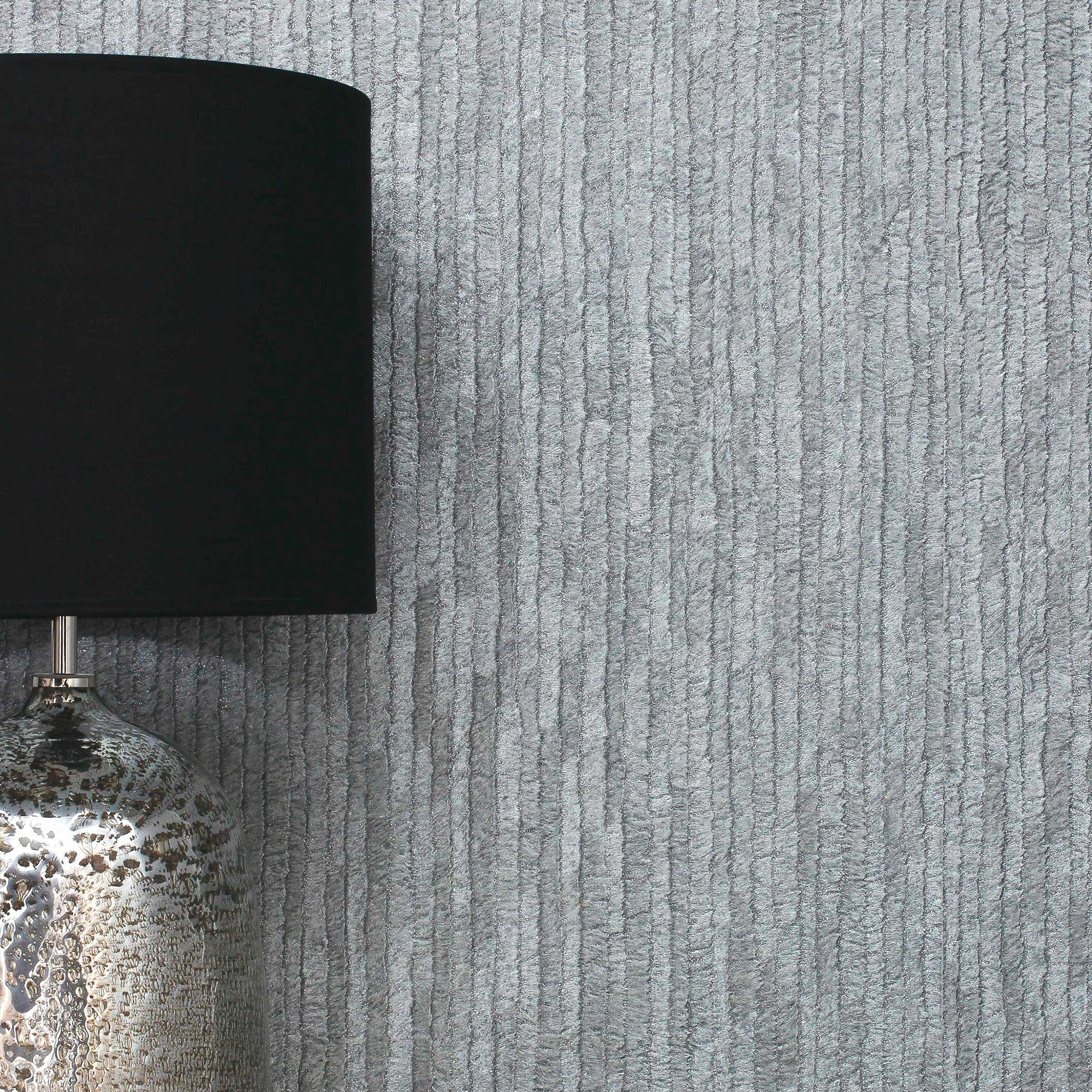 Click to view product details and reviews for Bergamo Leather Texture Dark Grey And Silver Wallpaper Silver.