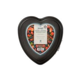 Dunelm 23cm Heart Springform Cake Tin
