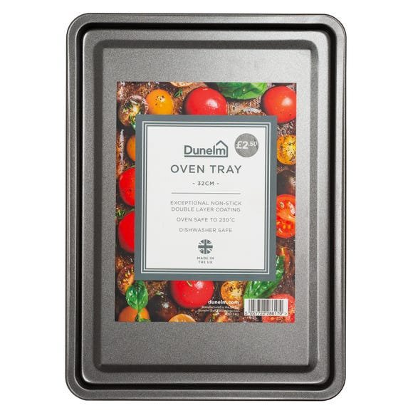 Dunelm 32cm Oven Tray Silver