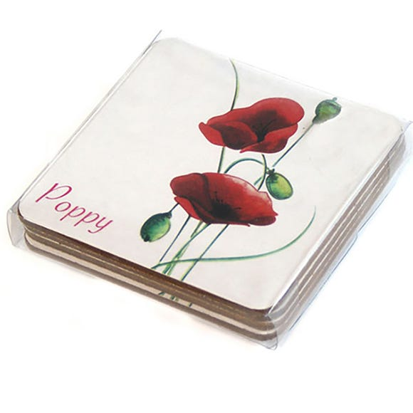 Poppy Coasters Red