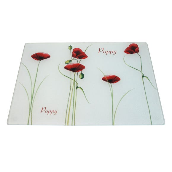 Poppy Work Top Saver Red