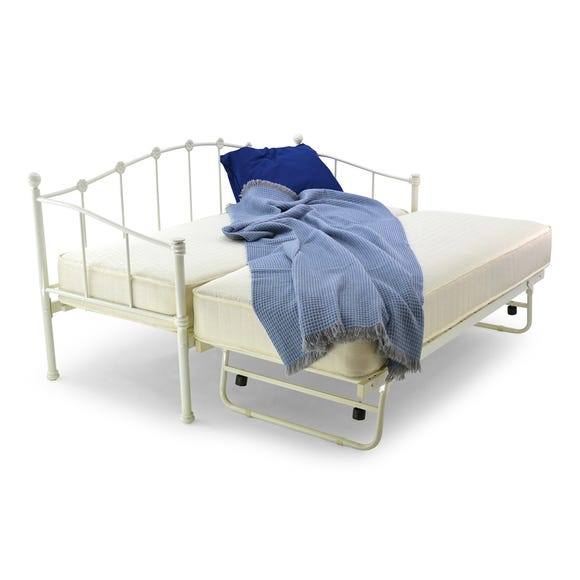 Paris White Single Day Bed  undefined
