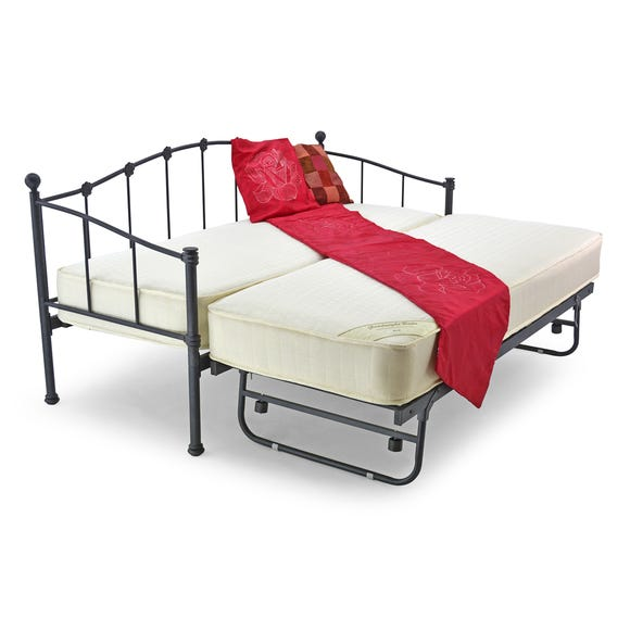 Paris Underbed Small Single Metal Bed Frame Ivory Black