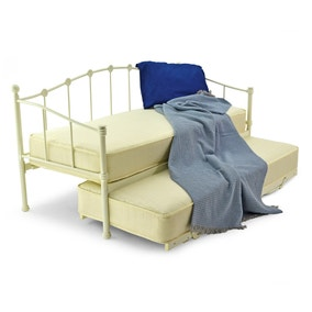 Paris Underbed Small Single Metal Bed Frame Ivory