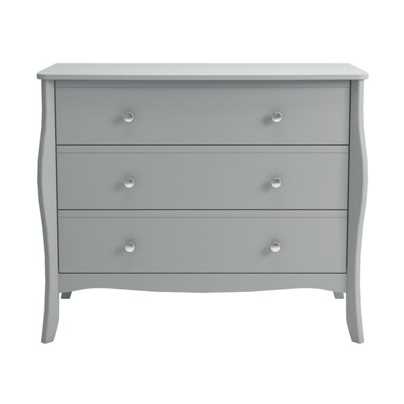 Baroque Grey 3 Drawer Chest Grey