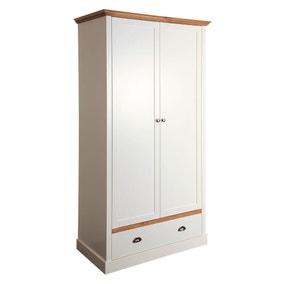 Sandringham White 2 Door Single Wardrobe