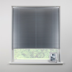 Swish Brushed Aluminium Cordless Venetian Blind 25mm Slats