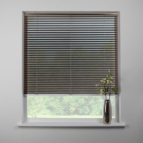 Swish Brushed Bronze Cordless Aluminium Venetian Blind 25mm Slats