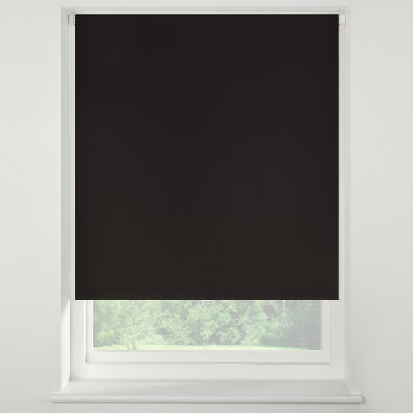 Swish Liquorice Cordless Blackout Roller Blind  undefined