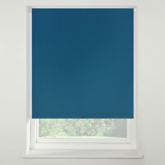 Swish Peacock Cordless Blackout Roller Blind peacock_blue undefined