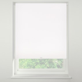 Swish Soft White Cordless Blackout Roller Blind